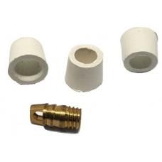 Ремкомплект для заправочного шланга 1/4 тефлон ( 3 шт.+ 1шт.)