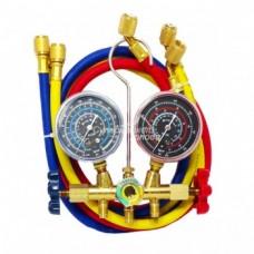 Коллектор заправочный 2-вентильный HS-536C (3) R-410