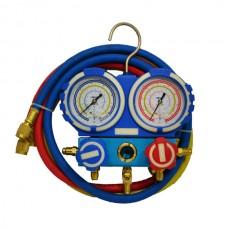 Коллектор заправочный 2-вентильный VMG-2-R22-B-02 Value R-22,R-134,R-404,R-407 68мм BL