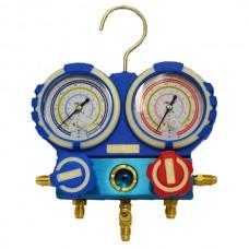Коллектор заправочный 2-вентильный VMG-2-R410A-04 Value R-22, R-134, R-407, R-410 80мм без шланга BL