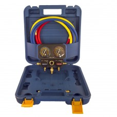 Коллектор заправочный 2-вентильный VRM2-B-0401 Value R-22, R-134, R-407, R-410; d=68мм в кейсе