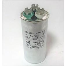 Конденсатор пусковой, рабочий СВВ65 40+1,5 мкФ, 450В., (±5%)