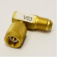 Адаптер-переходник V-03 под 90° 1/4 - 5/16 Value