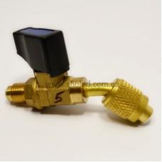 Кран заправочный CV05 под 45° 1/4 - 1/4 Value